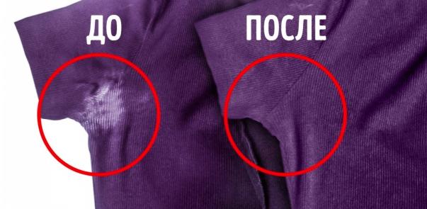 Как удалить пятна от дезодоранта под мышками, как отстирать дезодорант