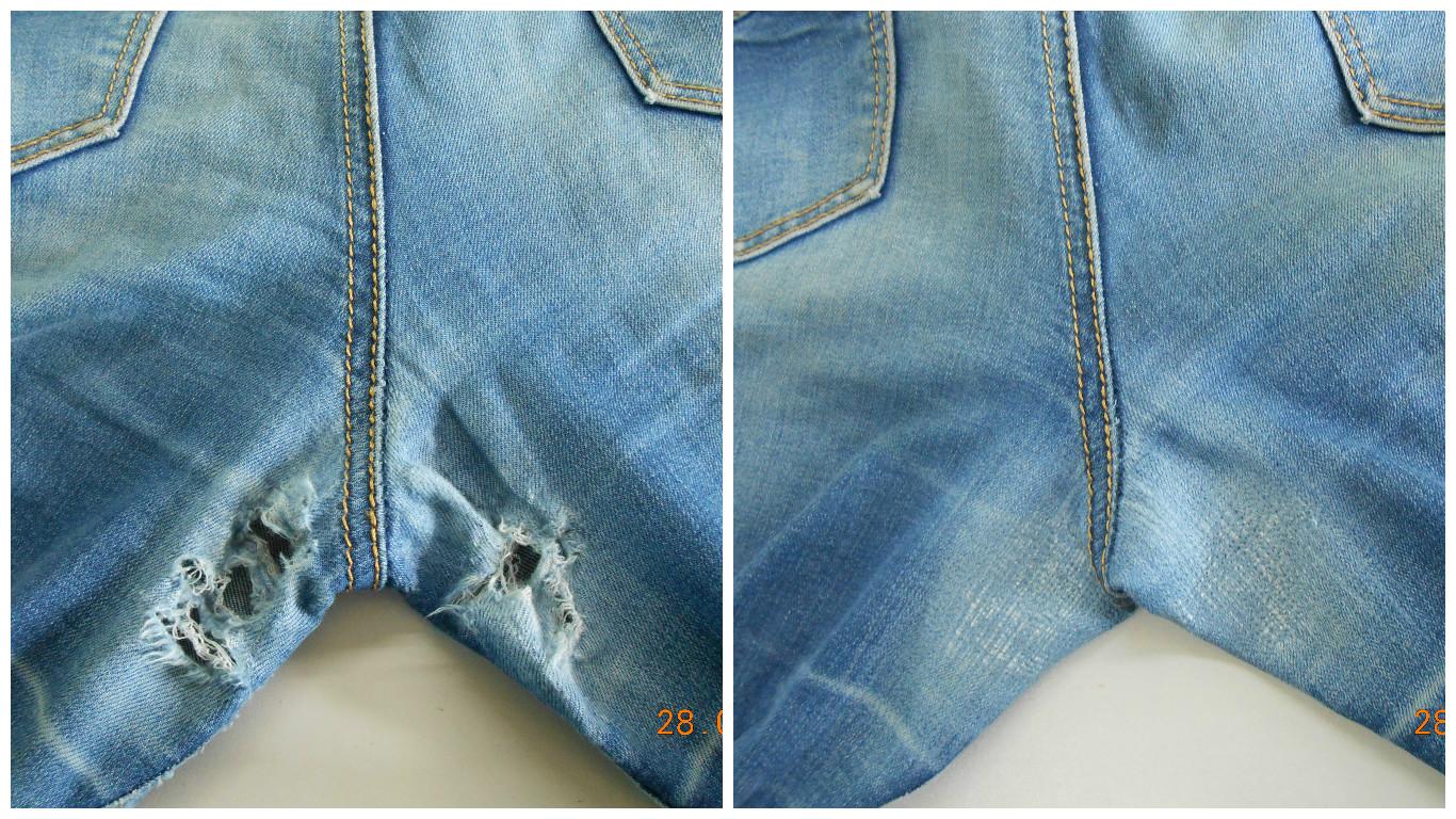 Заплатка на джинсы между ног: как заштопать джинсы между ног вручную